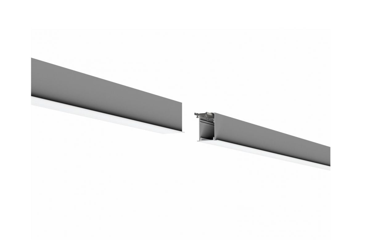 2slick small line inbouw lijnverlichting eind 3100mm 4000k 5192lm 60w dali