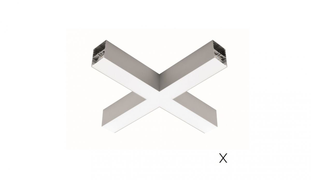 2slick small line pendel hoekstuk x 608x608x40x65mm 4000k 2832lm 35w fix