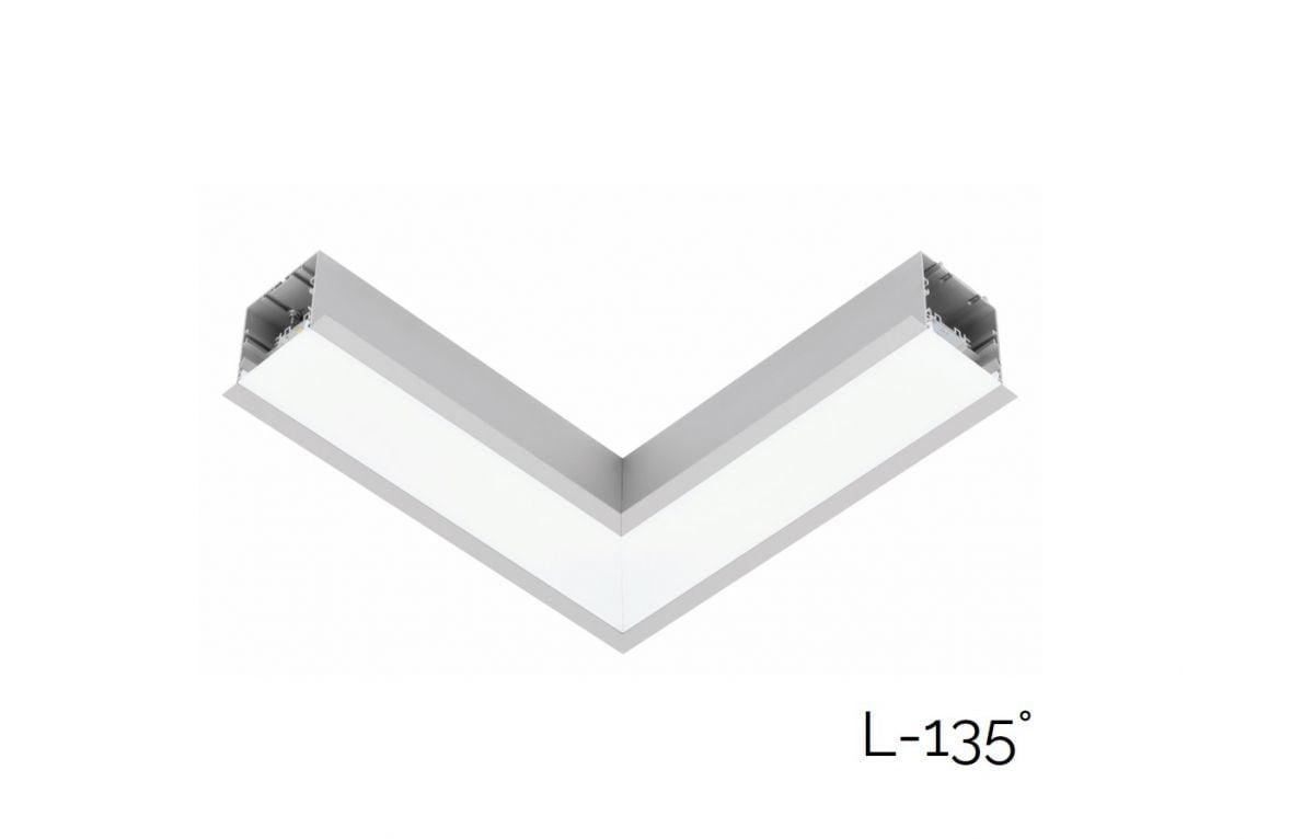2slick small line recessed joint l 135 340x340x40x65mm 4000k 1888lm 21w fix
