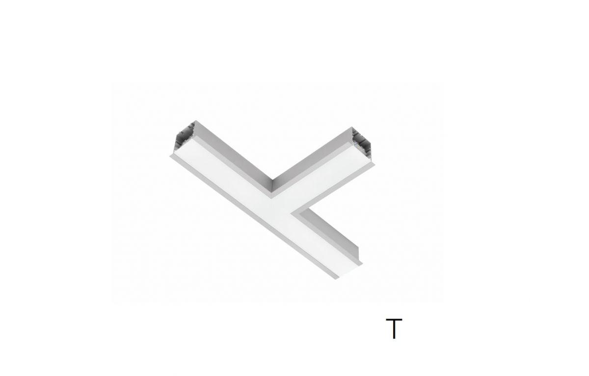 2slick small line recessed joint t 340x340x40x65mm 4000k 2832lm 35w fix