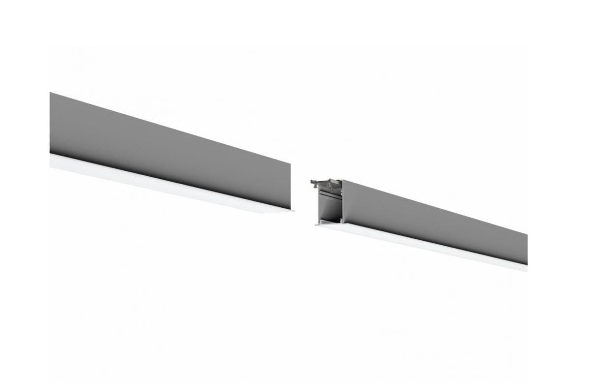 2slick small line recessed line lighting end 2700x40x65mm 3000k 4436lm 50w fix