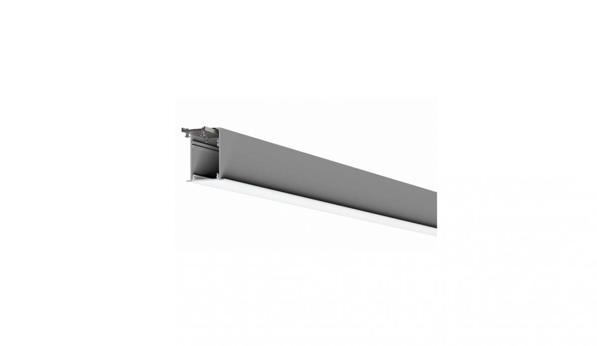 2slick small line recessed line lighting single 2400x40x65mm 3000k 3549lm 40w dali