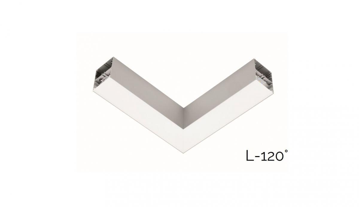 2slick small line surfaced joint l 90 340x340x40x65mm 4000k 1888lm 21w fix