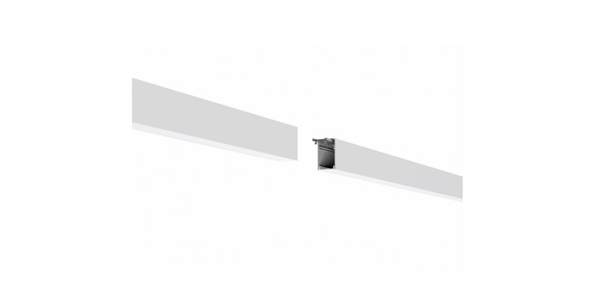 2slick small line surfaced line lighting end 2700x40x65mm 4000k 4720lm 50w fix