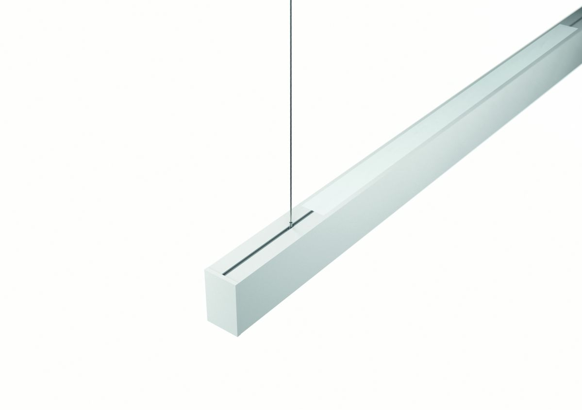 2slick small line suspended line lighting end directindirect 2400x40x65mm 3000k 5653lm 4035w dali