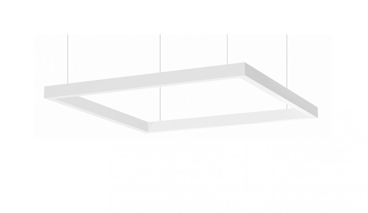 4side small line luminaire suspended 1200x1200mm 3000k 7098lm 4x21w dali