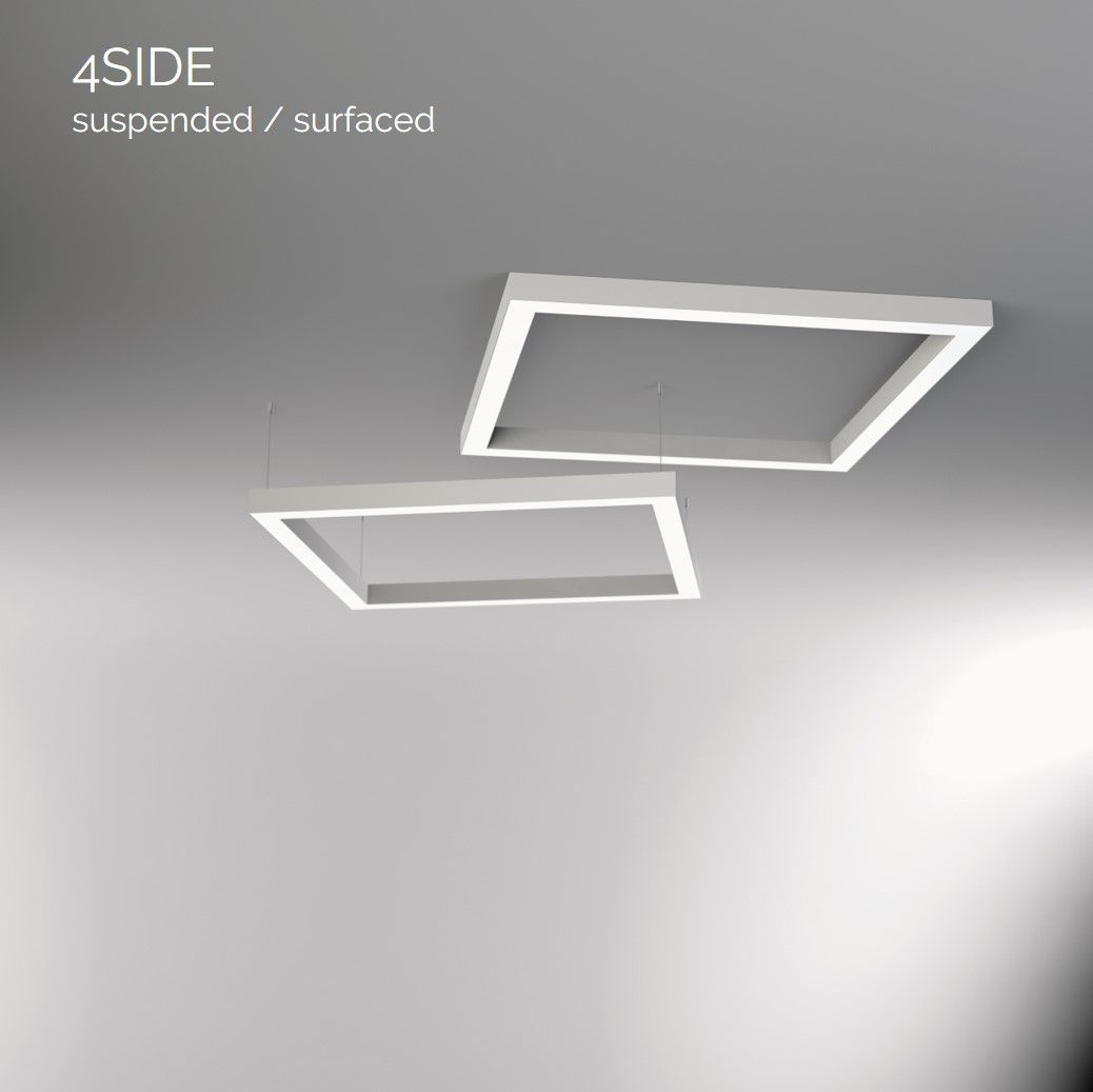4side small line luminaire suspended 1500x600mm 4000k 6607lm 2x25w2x13w fix