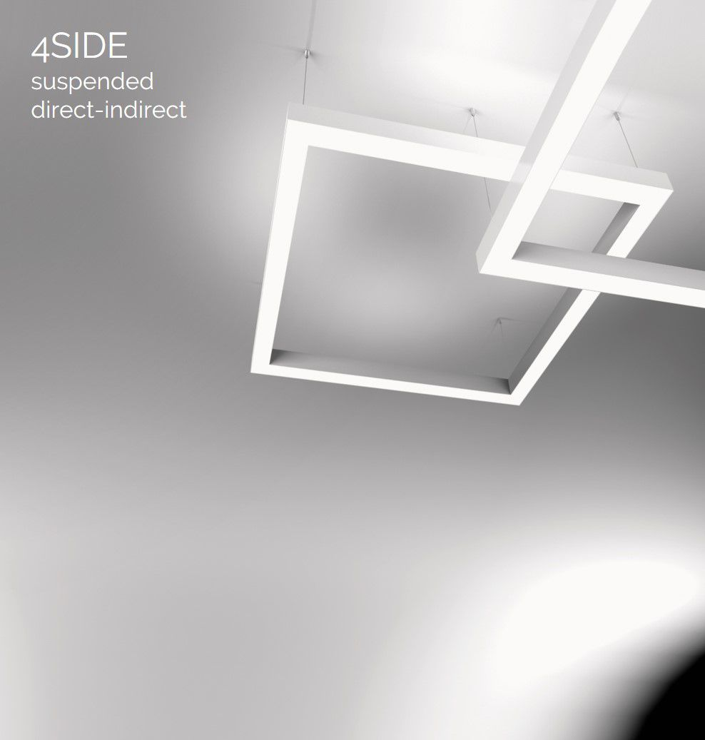4side small line luminaire suspended updown 1500x600mm 4000k 10383lm 2x25w2x13w2x2w fix