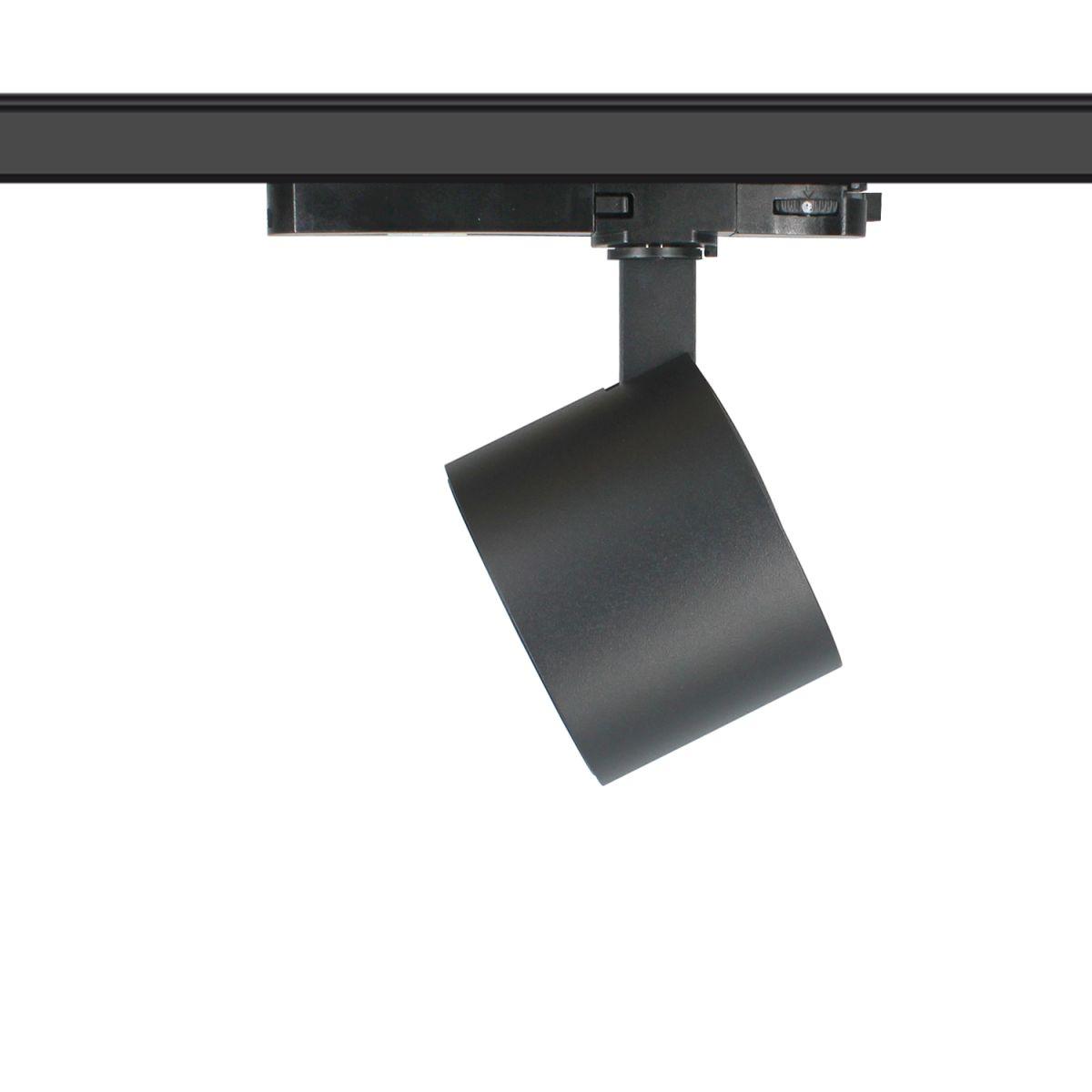 blecas trackspot 95x70mm 3000k 2000lm 20w 36 zwart triac