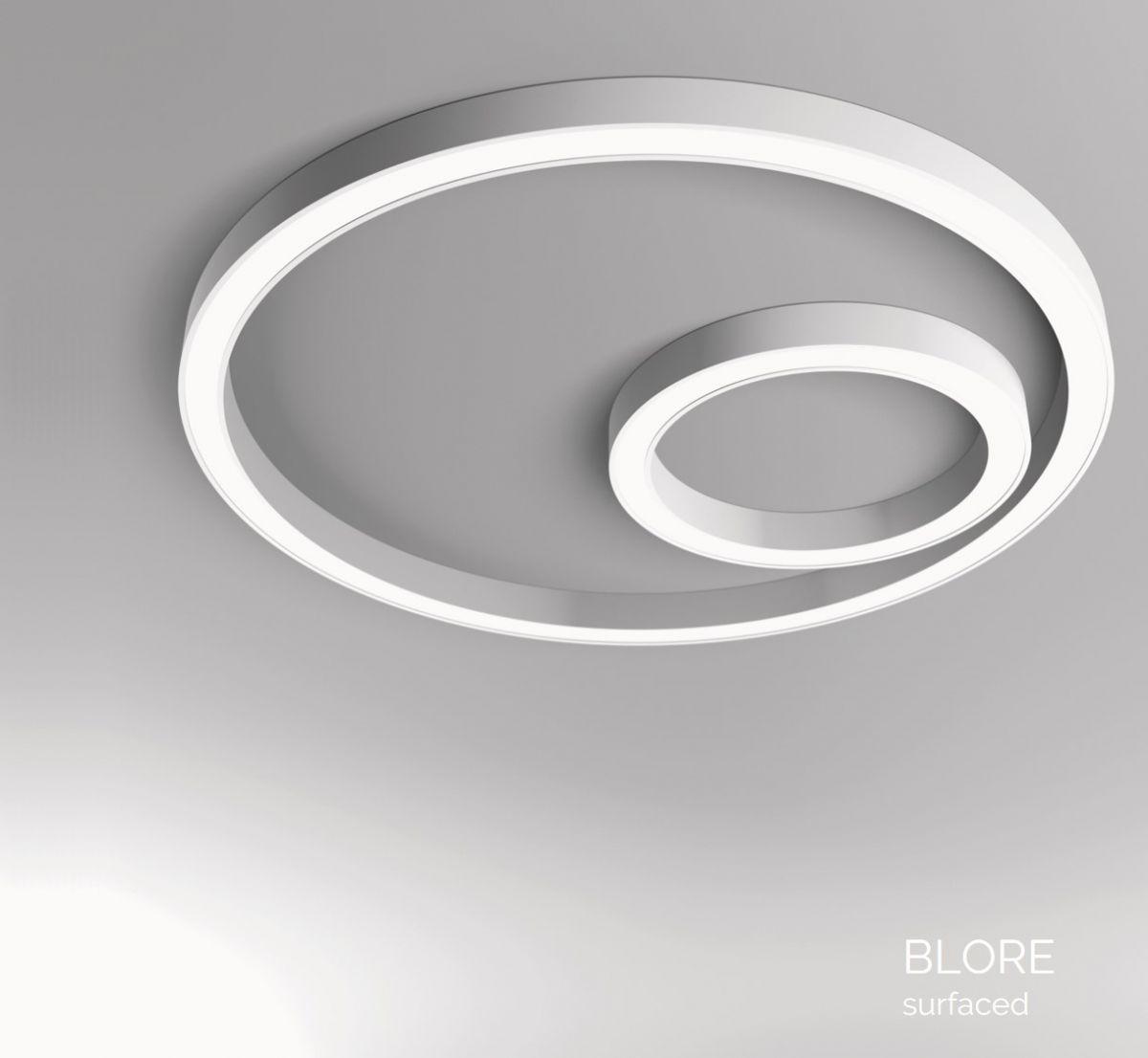 blore 111 surfaced luminaire round 1500mm 4000k 11308lm 140w dali