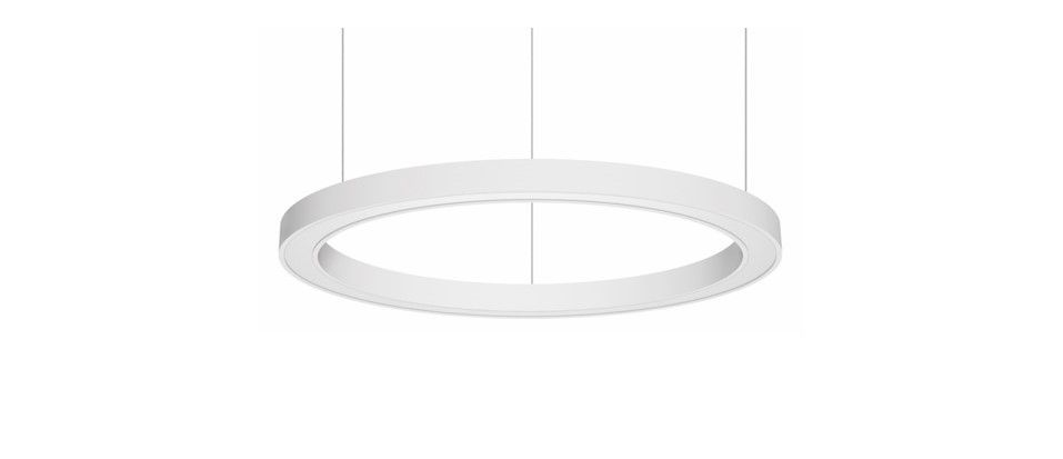 blore 55 pedant luminaire ring 1500mm 3000k 7900lm 105w fix