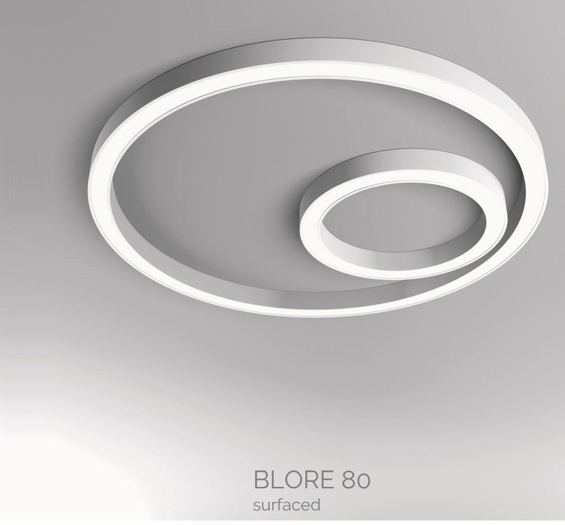 blore 80 opbouw armatuur ring 1200x80mm 3000k 5943lm 70w dali