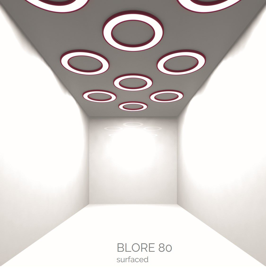 blore 80 opbouw armatuur ring 1200x80mm 3000k 5943lm 70w fix