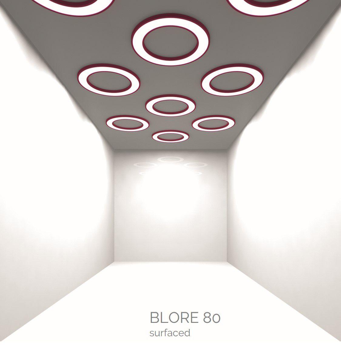 blore 80 surfaced luminaire round 1500x80mm 3000k 8915lm 105w fix