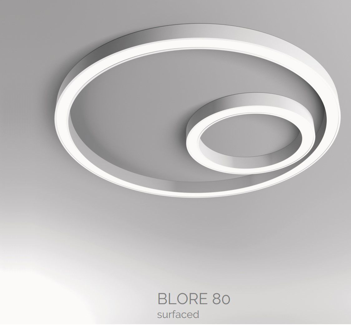 blore 80 surfaced luminaire round 700x80mm 4000k 3108lm 35w dali