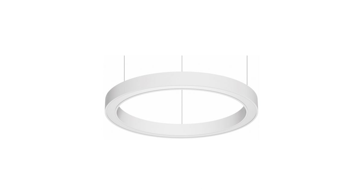 blore 80 suspended luminaire ring updown 1500x80mm 3000k 12630lm 10535w dali
