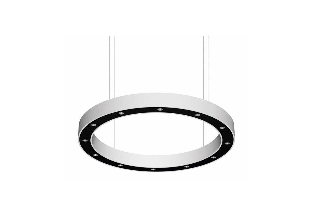 blore cup ring armatuur gependeld 1200mm 4000k 8446lm 12x6w dali