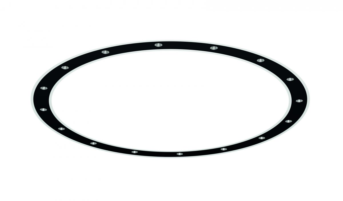 blore cup ring luminaire recessed 1500mm 4000k 11261lm 16x6w fix