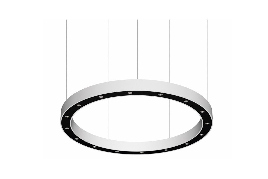 blore cup ring luminaire suspended 1500mm 3000k 5531lm 16x3w dali