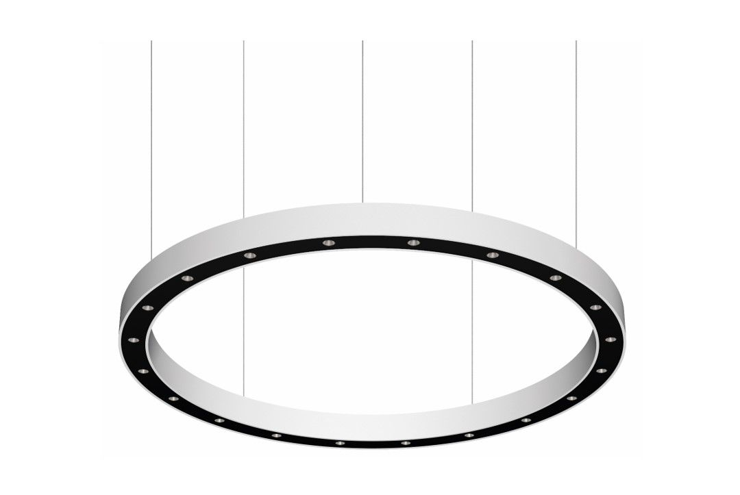 blore cup ring luminaire suspended 1800mm 3000k 6914lm 20x3w dali
