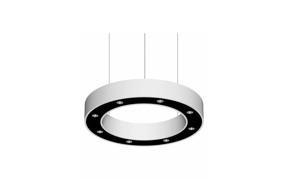 blore cup ring luminaire suspended 700mm 3000k 2766lm 8x3w dali
