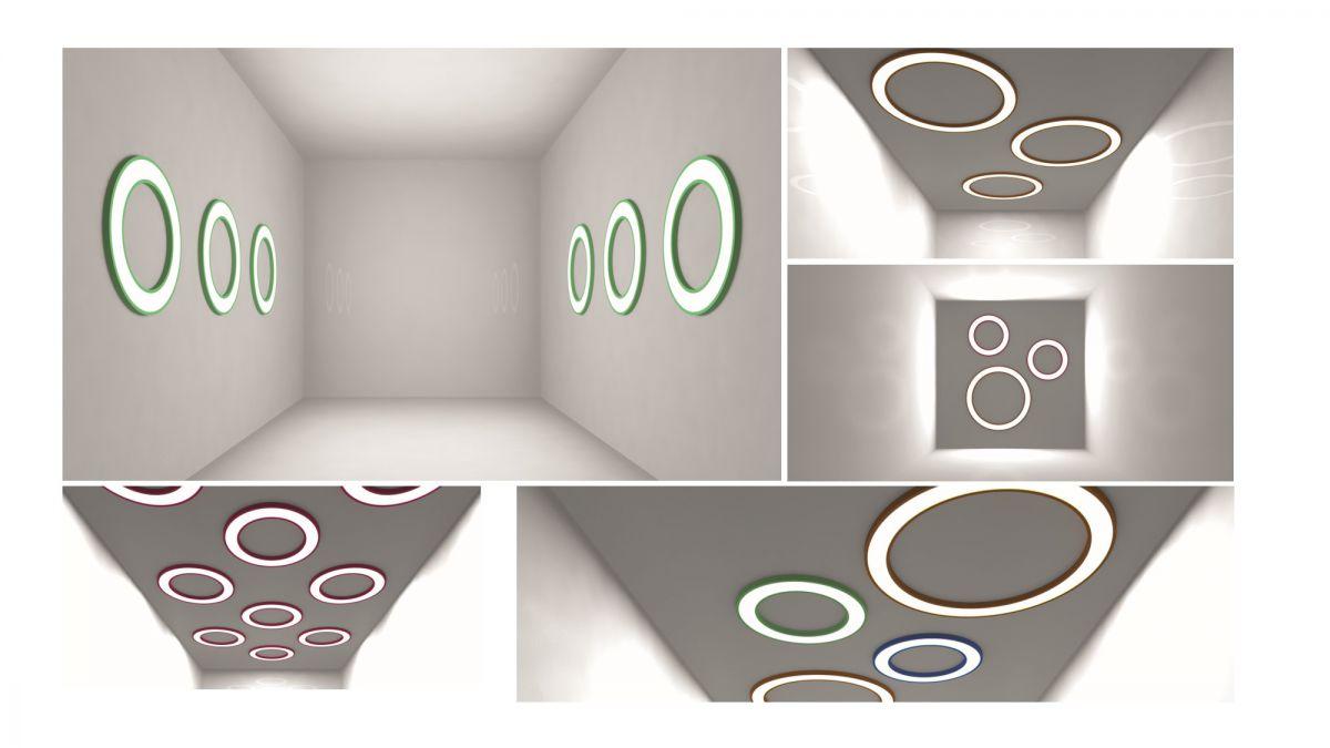 blore semirecessed luminaire ring 1200mm 3000k 8216lm 105w dali