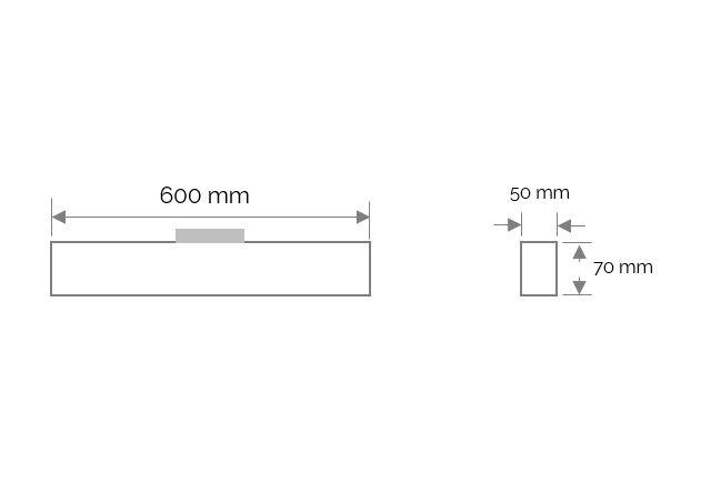 cabrera trackspot lineair 600mm 3000k 2250lm 25w 100 zwart casambi