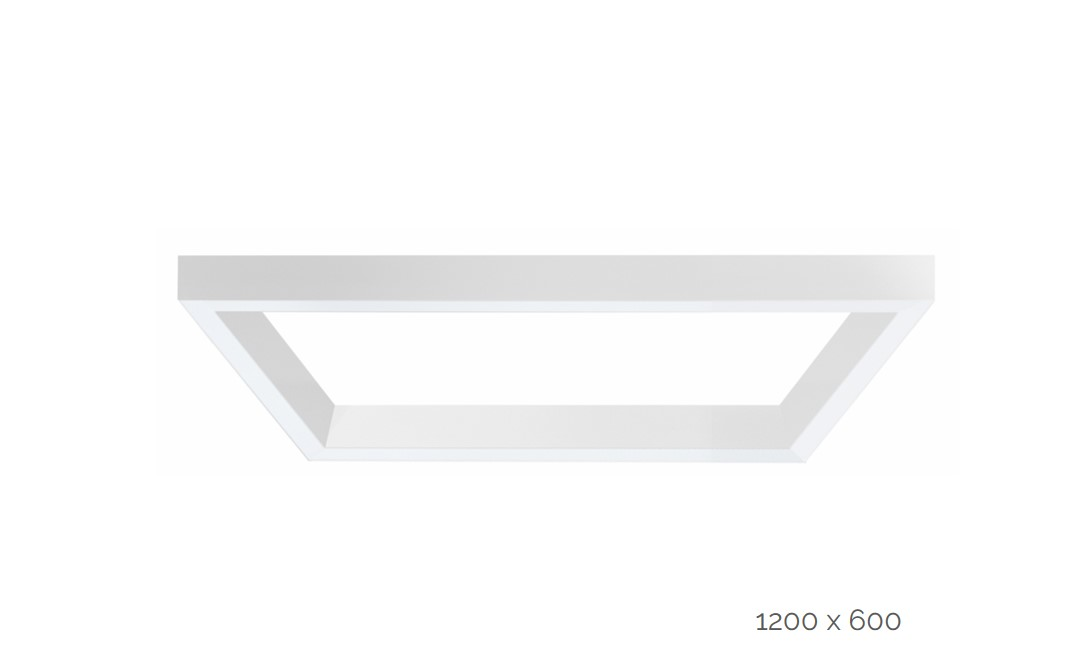 farina gependeld armatuur rechthoek 1200x600mm 4000k 13739lm 2x35w2x20w fix