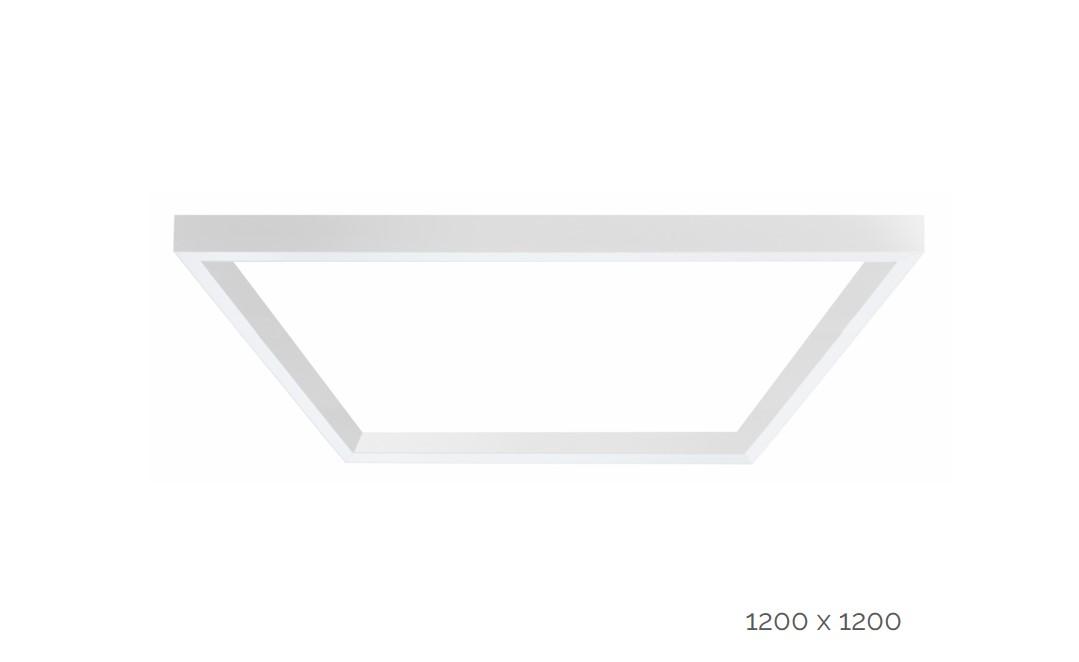 farina surfaced luminaire square 1200x1200mm 3000k 17220lm 4x35w dali