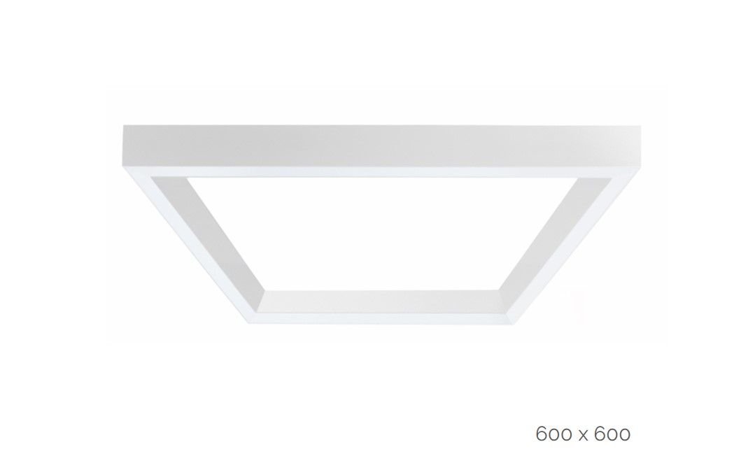 farina surfaced luminaire square 600x600mm 4000k 9159lm 4x20w dali
