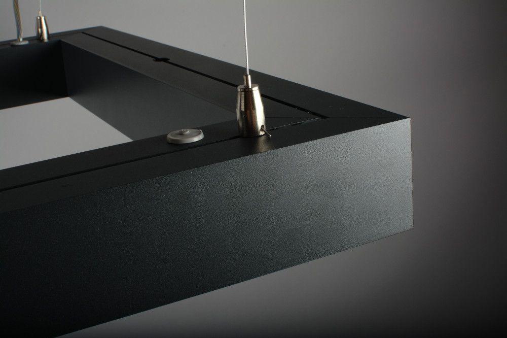 farina suspended luminaire square 900x900mm 3000k 12915lm 4x25w fix