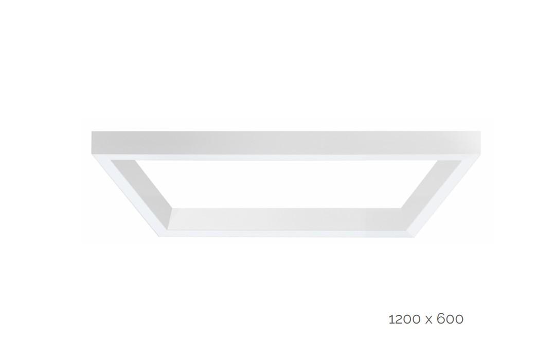 farina suspended luminaire rectangle 1200x600mm 3000k 12915lm 2x35w2x20w dali