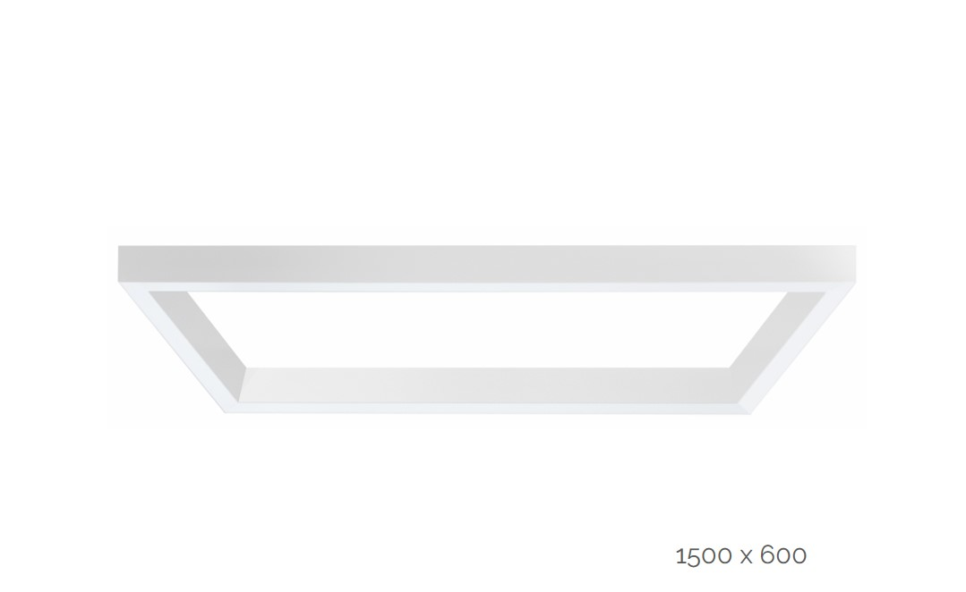 farina suspended luminaire rectangle 1500x600mm 3000k 14160lm 2x40w2x20w fix