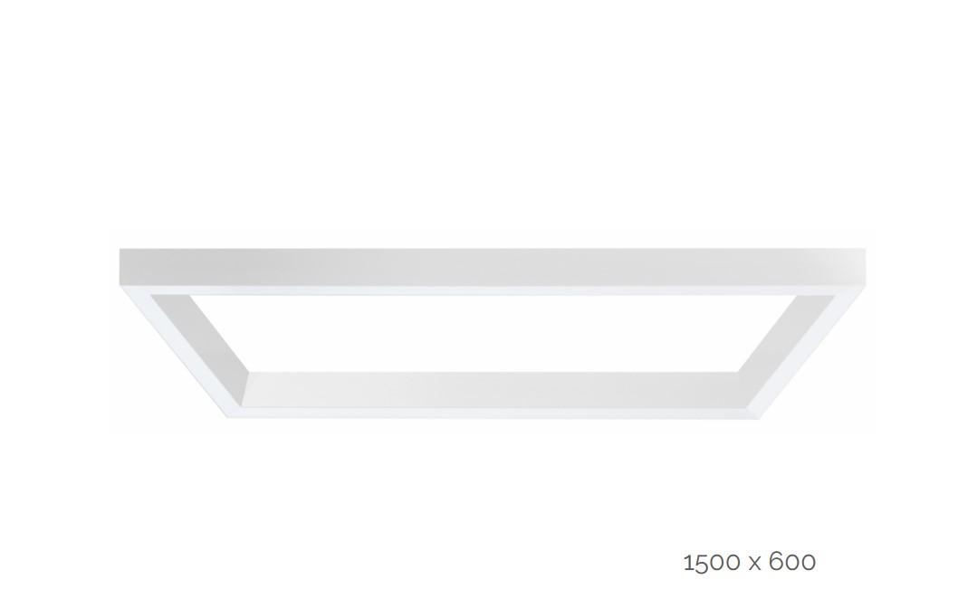 farina suspended luminaire rectangle 1500x600mm 4000k 15064lm 2x40w2x20w fix