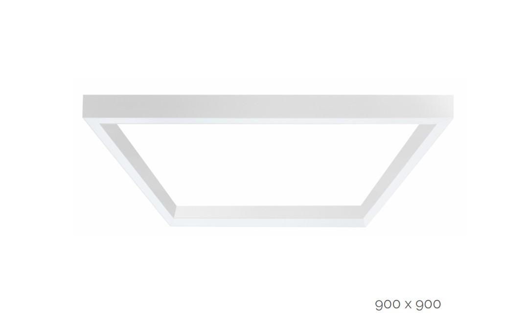 farina suspended luminaire square 900x900mm 3000k 12915lm 4x25w dali