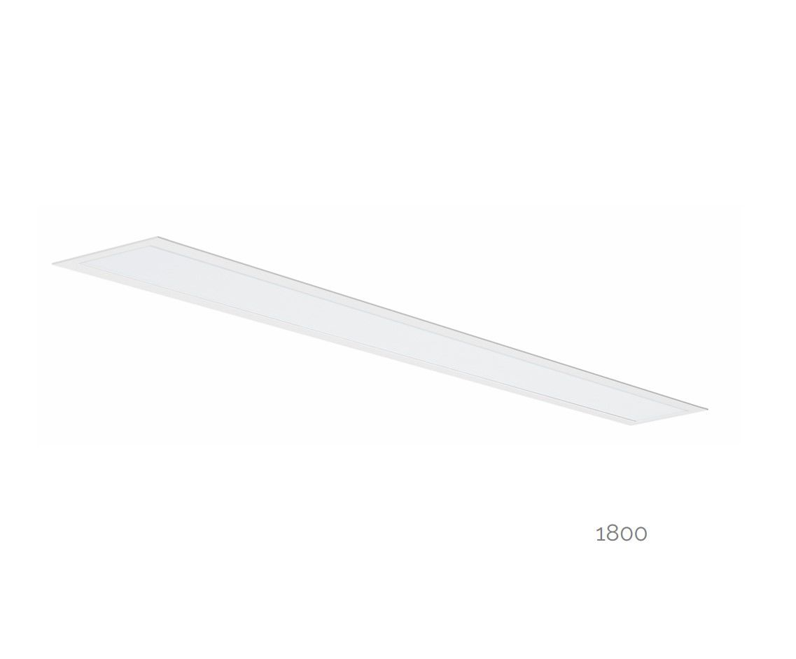 gaudi 70 lijnarmatuur single inbouw 1800mm 3000k 6457lm 50w fix