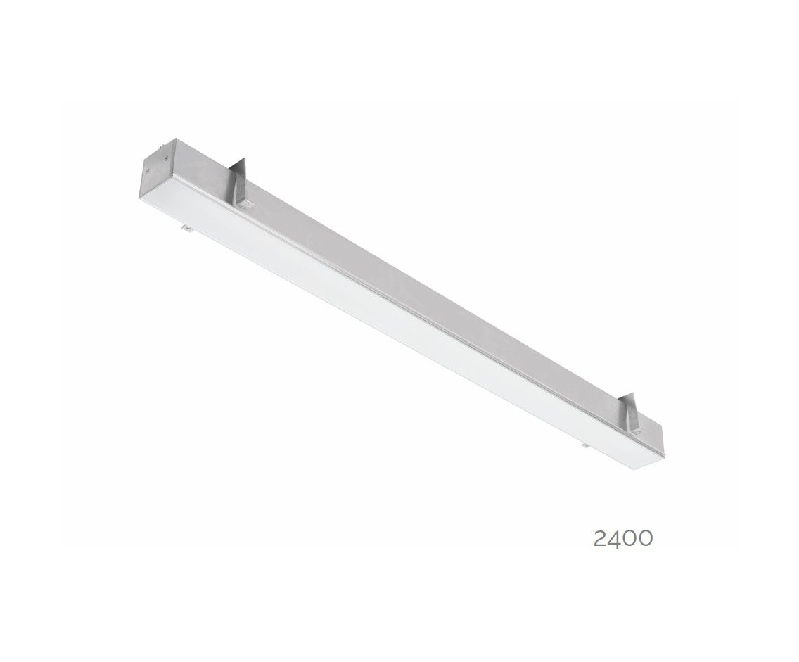 gaudi 70 lijnarmatuur single inbouw trimless 2400mm 3000k 8610lm 70w fix