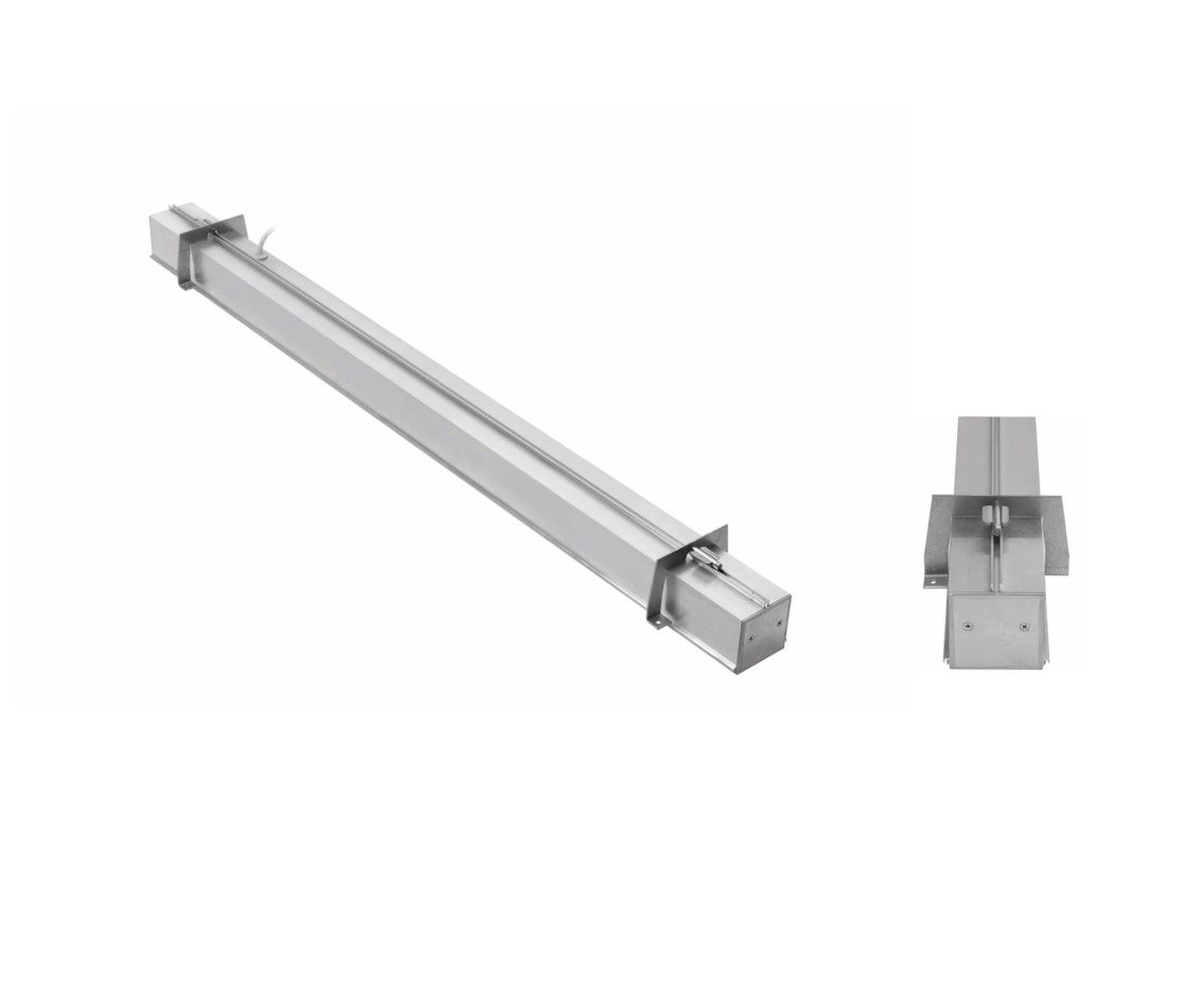 gaudi 70 lijnarmatuur single inbouw trimless 300mm 3000k 1077lm 10w dali