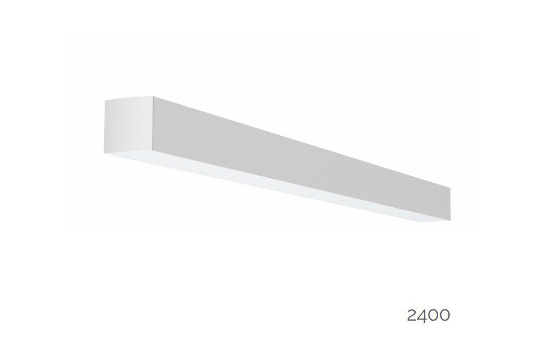 gaudi 70 lijnarmatuur single opbouw 2400mm 3000k 8610lm 70w dali