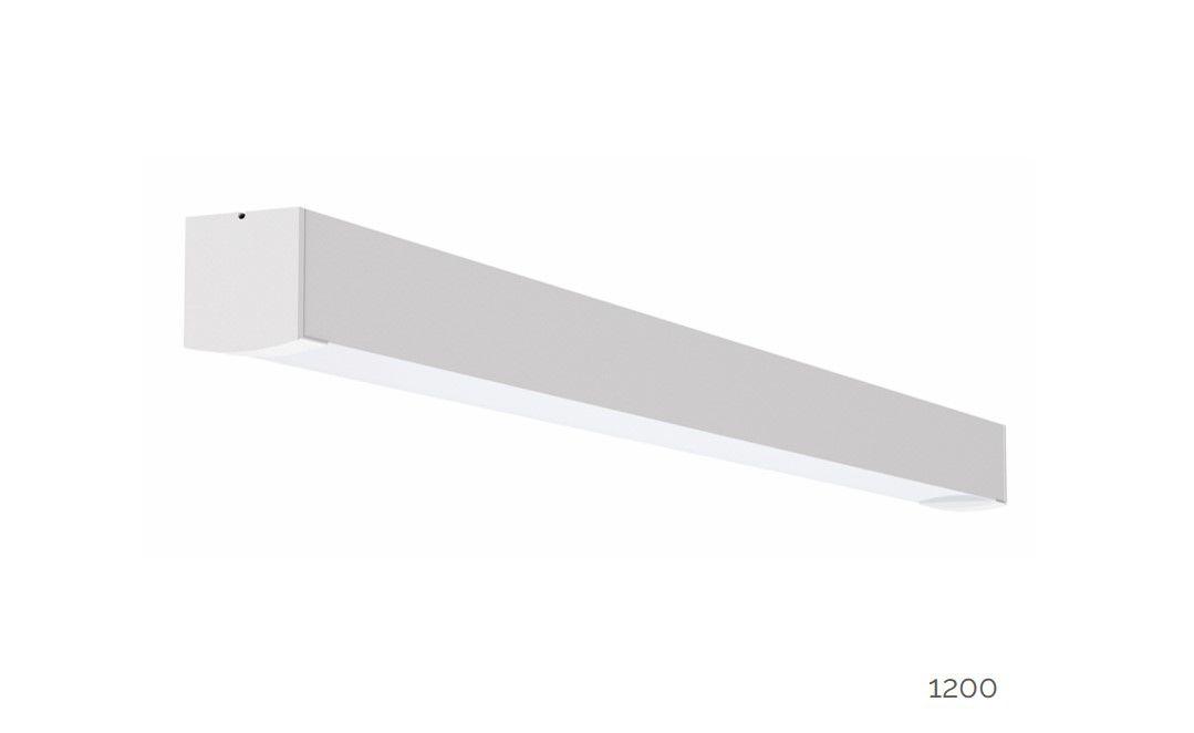 gaudi 70 lijnarmatuur single opbouw ip54 1200mm 4000k 4580lm 35w dali
