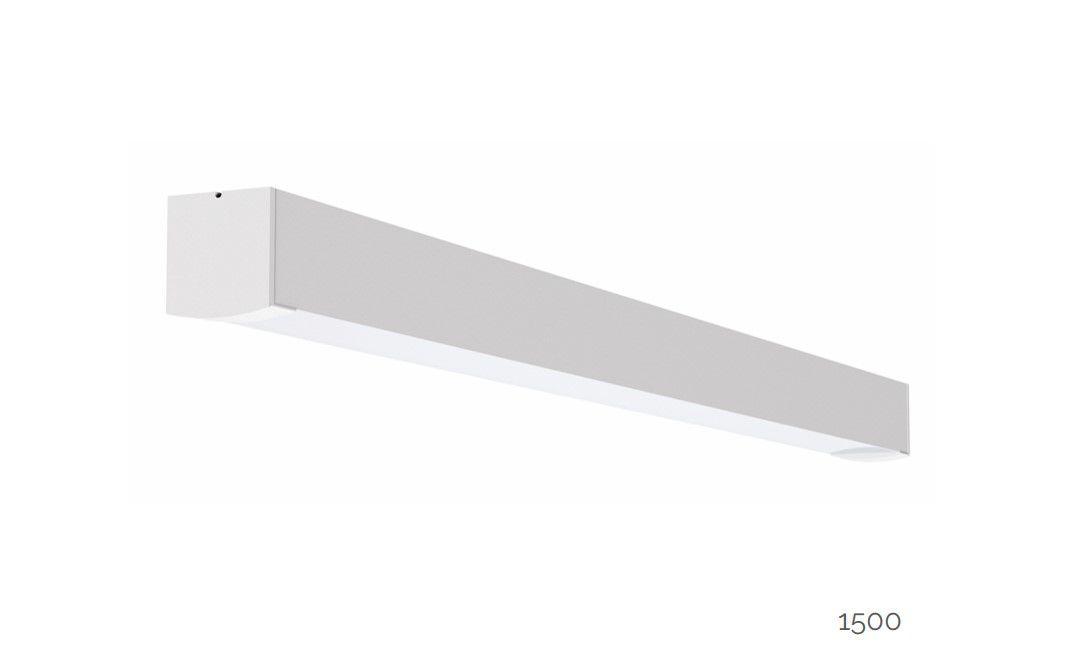 gaudi 70 lijnarmatuur single opbouw ip54 1500mm 3000k 5382lm 40w fix