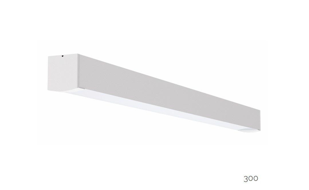 gaudi 70 lijnarmatuur single opbouw ip54 300mm 3000k 1077lm 10w fix