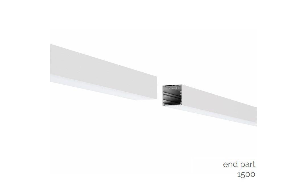 gaudi 70 lijnverlichting directindirect einddeel gependeld 1500mm 3000k 9348lm 4025w dali