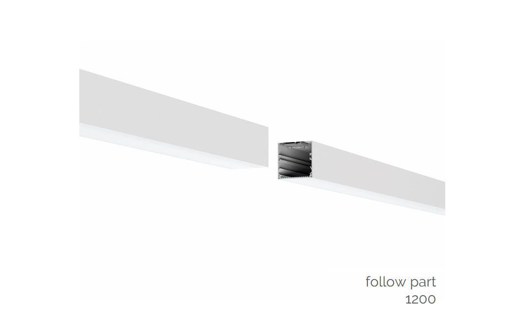 gaudi 70 lijnverlichting directindirect volgdeel gependeld 1200mm 3000k 7011lm 3520w dali