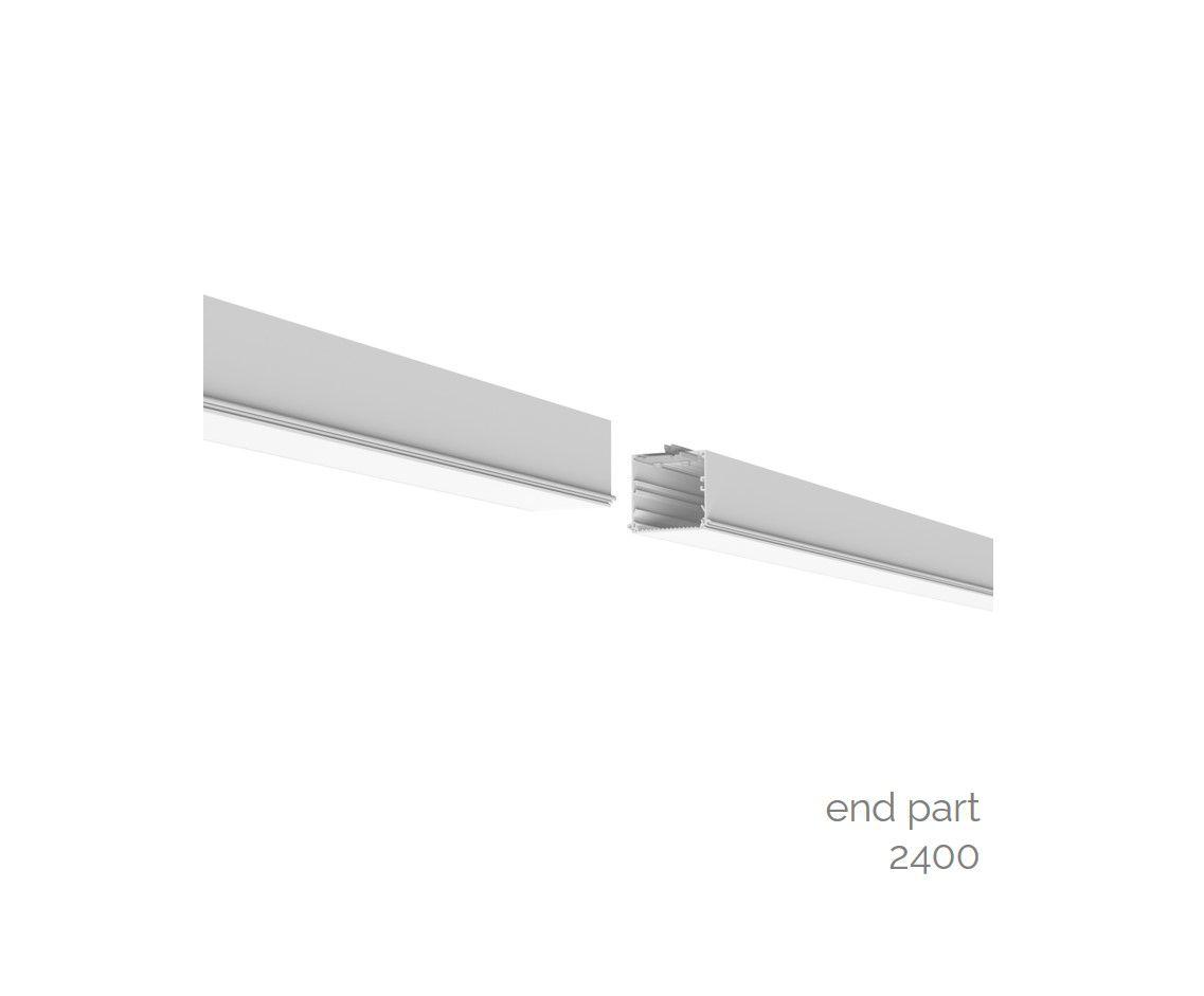 gaudi 70 lijnverlichting einddeel inbouw trimless 2400mm 4000k 9159lm 70w fix