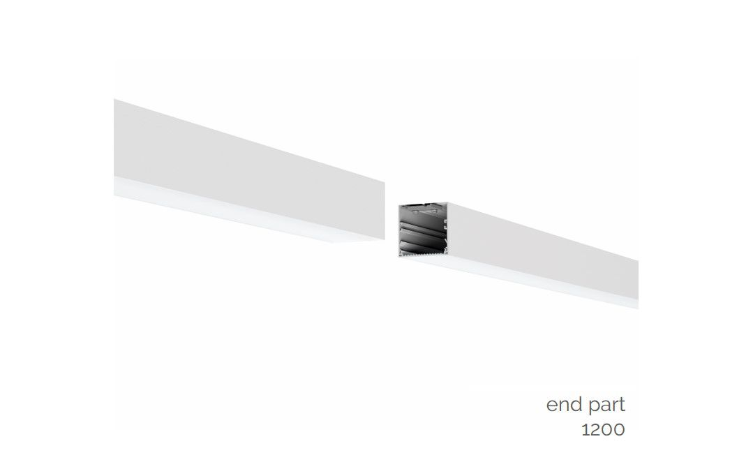 gaudi 70 lijnverlichting einddeel opbouw 1200mm 3000k 4305lm 35w fix