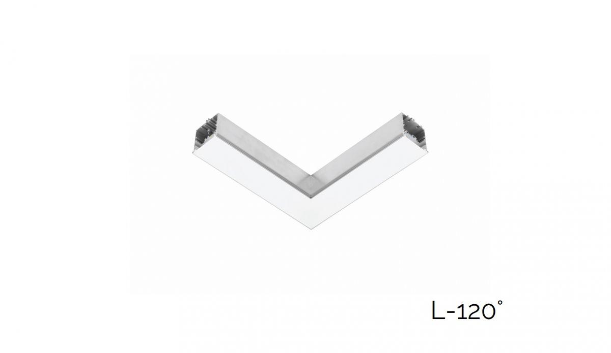 gaudi 70 lijnverlichting hoekstuk l 120 inbouw trimless 340x340mm 3000k 2152lm 20w fix