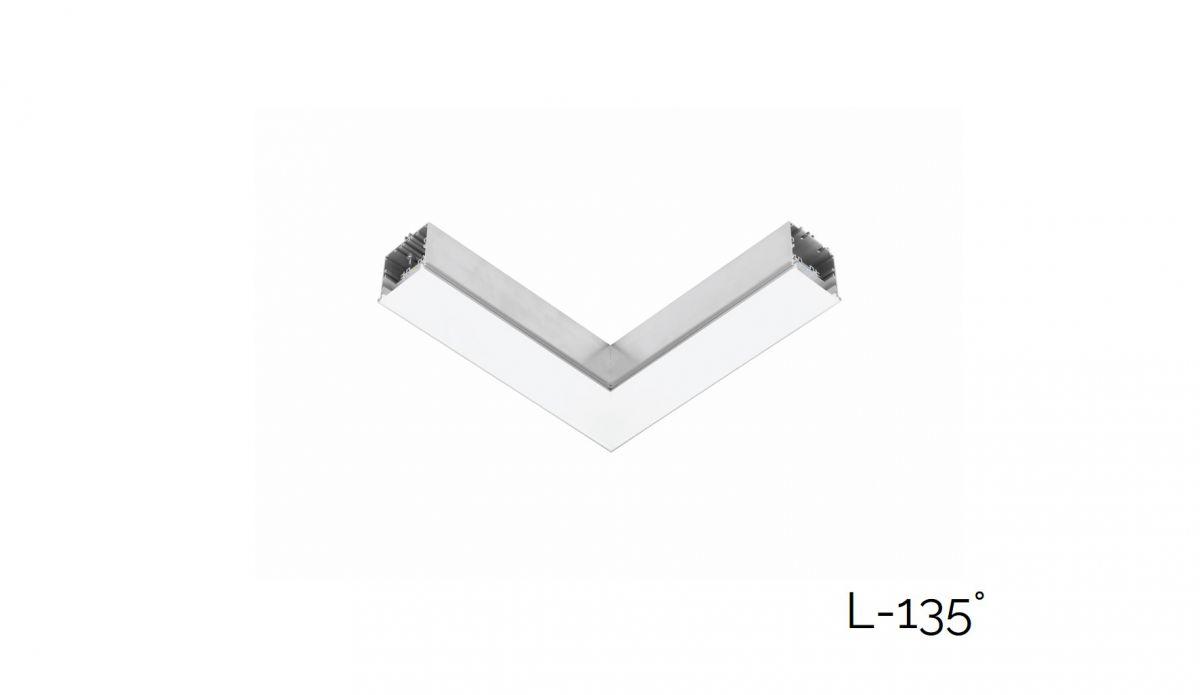 gaudi 70 lijnverlichting hoekstuk l 135 inbouw trimless 340x340mm 3000k 2152lm 20w fix