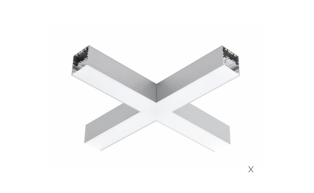 gaudi 70 lijnverlichting hoekstuk x opbouw 608x608mm 4000k 4580lm 35w fix