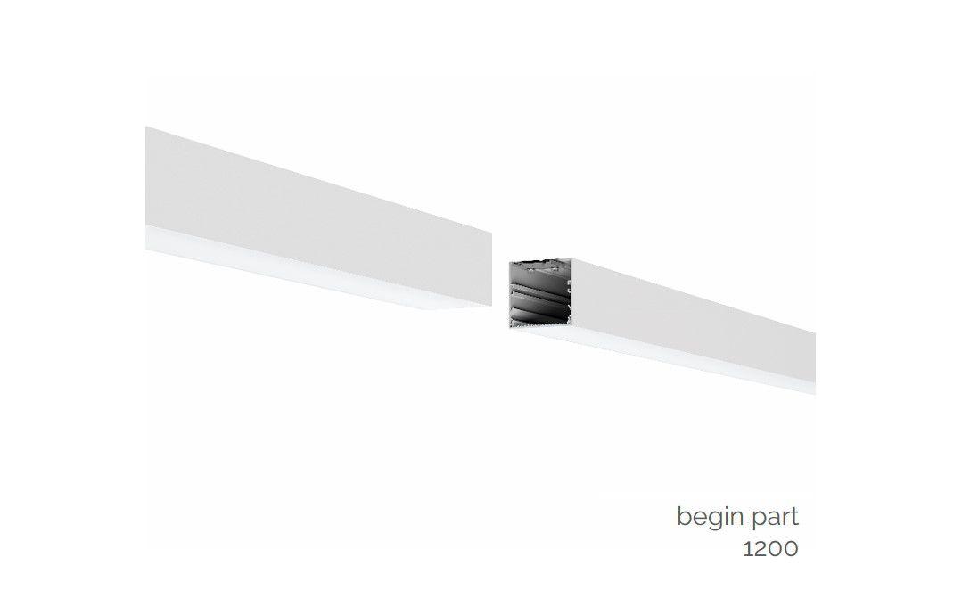 gaudi 70 lijnverlichting startdeel gependeld 1200mm 3000k 4305lm 35w fix